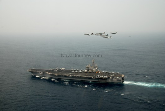 US NAVY AIRCRAFT CARRIER-INDO US NAVAL EXERCISE
